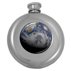 A Sky View Of Earth Round Hip Flask (5 Oz)