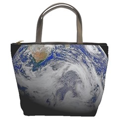 A Sky View Of Earth Bucket Bags by Celenk