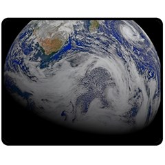 A Sky View Of Earth Fleece Blanket (medium)