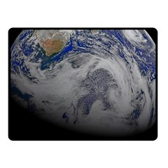 A Sky View Of Earth Fleece Blanket (small)