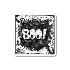 Monster Art Boo! Boo2 Square Magnet by Celenk