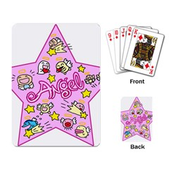Pink Angel Star Playing Card by Celenk