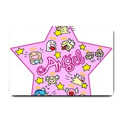 Pink Angel Star Small Doormat  by Celenk