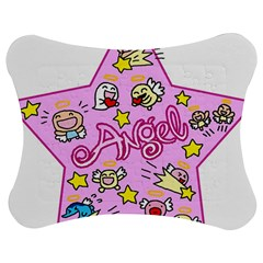 Pink Angel Star Jigsaw Puzzle Photo Stand (bow) by Celenk