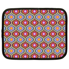 Blue Leaves Eyes Pattern Netbook Case (xl)  by Cveti
