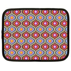 Blue Leaves Eyes Pattern Netbook Case (xxl)  by Cveti