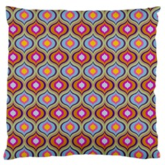Blue Leaves Eyes Pattern Standard Flano Cushion Case (two Sides) by Cveti