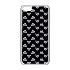 Wave Pattern Black Grey Apple Iphone 5c Seamless Case (white) by Cveti