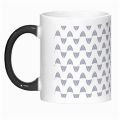 Wave Pattern White Grey Morph Mugs by Cveti