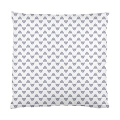 Wave Pattern White Grey Standard Cushion Case (one Side) by Cveti