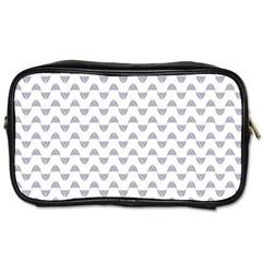 Wave Pattern White Grey Toiletries Bags by Cveti