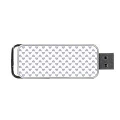 Wave Pattern White Grey Portable Usb Flash (one Side) by Cveti