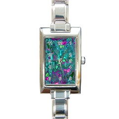 Melted Fractal 1c Rectangle Italian Charm Watch by MoreColorsinLife