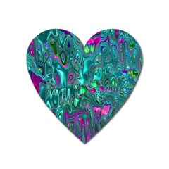 Melted Fractal 1c Heart Magnet by MoreColorsinLife