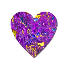 Melted Fractal 1a Heart Magnet by MoreColorsinLife