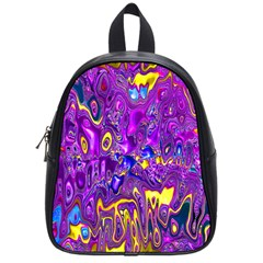 Melted Fractal 1a School Bag (small) by MoreColorsinLife