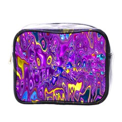 Melted Fractal 1a Mini Toiletries Bags by MoreColorsinLife