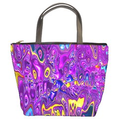 Melted Fractal 1a Bucket Bags by MoreColorsinLife