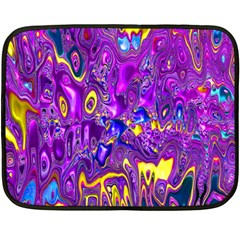 Melted Fractal 1a Fleece Blanket (mini) by MoreColorsinLife