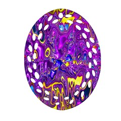 Melted Fractal 1a Oval Filigree Ornament (two Sides) by MoreColorsinLife