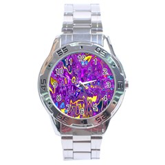 Melted Fractal 1a Stainless Steel Analogue Watch by MoreColorsinLife