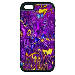 Melted Fractal 1a Apple Iphone 5 Hardshell Case (pc+silicone) by MoreColorsinLife