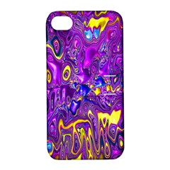 Melted Fractal 1a Apple Iphone 4/4s Hardshell Case With Stand by MoreColorsinLife