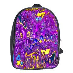 Melted Fractal 1a School Bag (large) by MoreColorsinLife