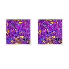 Melted Fractal 1a Cufflinks (square) by MoreColorsinLife