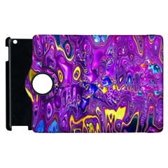 Melted Fractal 1a Apple Ipad 3/4 Flip 360 Case by MoreColorsinLife
