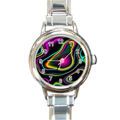 Vibrant Fantasy 5 Round Italian Charm Watch by MoreColorsinLife