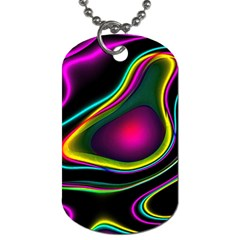 Vibrant Fantasy 5 Dog Tag (two Sides) by MoreColorsinLife