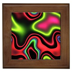 Vibrant Fantasy 1b Framed Tiles by MoreColorsinLife