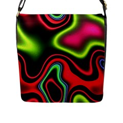Vibrant Fantasy 1b Flap Messenger Bag (l)  by MoreColorsinLife