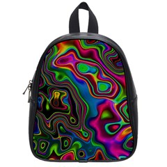 Vibrant Fantasy 6 School Bag (small) by MoreColorsinLife