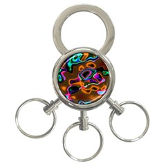 Vibrant Fantasy 8 3 Ring Key Chains by MoreColorsinLife