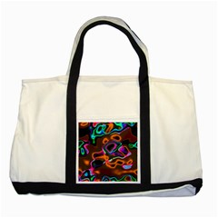 Vibrant Fantasy 8 Two Tone Tote Bag by MoreColorsinLife