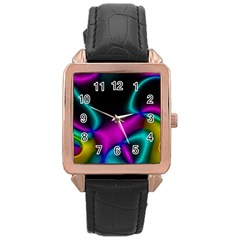 Vibrant Fantasy 8 Rose Gold Leather Watch  by MoreColorsinLife