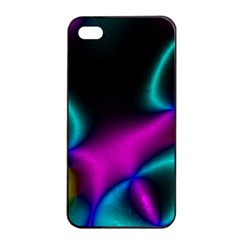Vibrant Fantasy 3 Apple Iphone 4/4s Seamless Case (black) by MoreColorsinLife