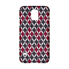 Rhomboids Pattern Red Grey Samsung Galaxy S5 Hardshell Case  by Cveti