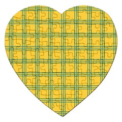 Green Stripes Jigsaw Puzzle (heart) by berwies