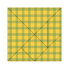 Green Stripes Acrylic Tangram Puzzle (6  X 6 ) by berwies