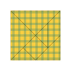 Green Stripes Acrylic Tangram Puzzle (4  X 4 ) by berwies