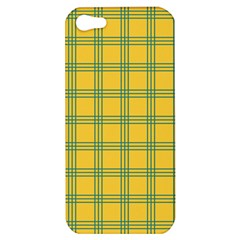 Green Stripes Apple Iphone 5 Hardshell Case by berwies