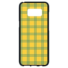 Green Stripes Samsung Galaxy S8 Black Seamless Case by berwies