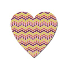 Wave Pattern 3 Heart Magnet by Cveti