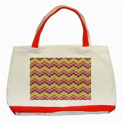 Wave Pattern 3 Classic Tote Bag (red)