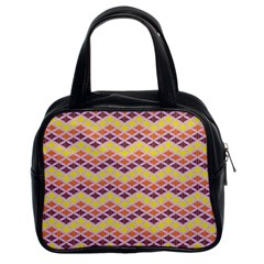 Wave Pattern 3 Classic Handbags (2 Sides) by Cveti