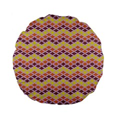 Wave Pattern 3 Standard 15  Premium Flano Round Cushions by Cveti