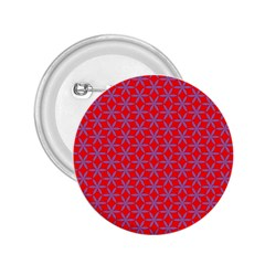 Flower Of Life Pattern Red Purle 2 25  Buttons by Cveti